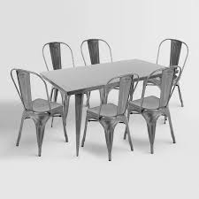 metal furniture plans. Metal Dining Tables And Chairs Intended For Talise Farmhouse Table Plans 7 Furniture E