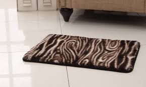 animal print memory foam bath rug