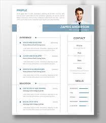 Gallery Of Blue Elegant Pattern Modern Resume Free Resume Template
