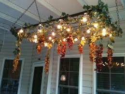 Bed Springs Light Fixture Made From Mattress Springs And String Lights