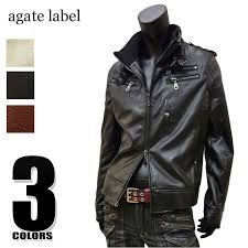 big pu leather military lay jacket white wine black 167001 outer jumper