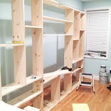 diy custom built in bookcases little house big city inside diy bookshelves idea 13