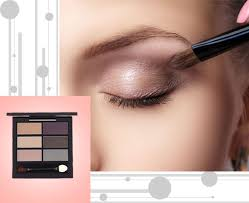makeup steps using eyeshadow