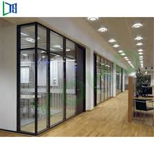Office glass wall Framed Customized Privacy Shutter Office Glass Wall Partitions Furniture With Aluminum Alloy Frame Broadway Office Furniture China Customized Privacy Shutter Office Glass Wall Partitions