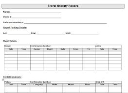 Itinerary Sheet 30 Itinerary Templates Travel Vacation Trip Flight