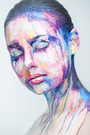 random images amazing face paintings transform models into the 2d works of famous artists by valeriya kutsan hd wallpaper and background photos