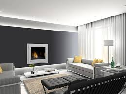 Fashionable Modern Decorative Fireplace Screen Insert On Dark Gray Wall In Living  Room Including Brown Rug