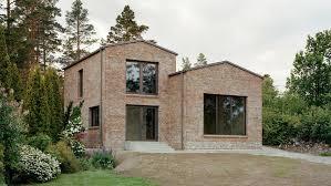 Hermansson Hiller Lundberg adapts Adolf Loos concept for brick House  Juniskr in Sweden