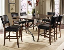 Hillsdale Dining Table Cameron Round Wood Dining Table With Metal Acent Base Rotmans