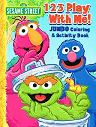 Sesame Street Coloring Activity Book Set Of 4 Books