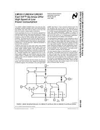 Design Aspects Of Monolithic Op Amps Lm6361 Lm6364 Lm6365 Fast Vip Op Amps Offer High Speed At