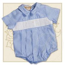 boys blue gingham ready to smock bubble