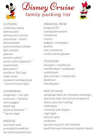 Cruise Packing List Free Printable Packing List For Disney Cruises