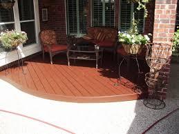 painting pressure treated wood curved deck 001 jpg