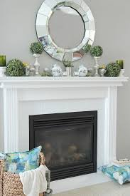 How to Decorate a Spring Mantel with Style. See my mantel filled with  pretty Spring