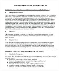 It Statement Of Work 8 Project Management Statement Of Work Example Print Tripevent Co