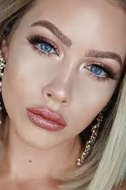 rose gold makeup for blue eyes picture 1
