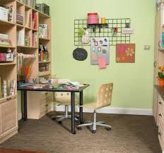 home office craft room ideas. Home Office Craft Room Design Ideas Homesfeed Crafting With Big Open Shelves Made From Wooden Black Desk For Modern Wood Chair W