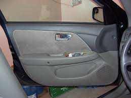 door handle cover and power window controls removed