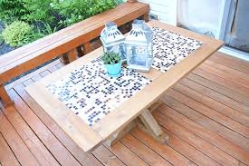 Wooden Game Table Plans DIY Outdoor Checkers Game Table The Home Depot 80