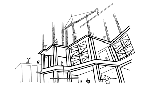 architectural drawings of skyscrapers. Brilliant Skyscrapers Skyscraper Building Under Construction Post Concrete Filling Line Drawing  Sketch Animation With Transparent Background Motion Background  Videoblocks Intended Architectural Drawings Of Skyscrapers