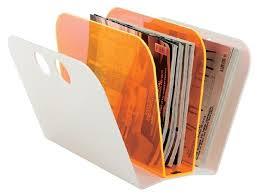 Orange Magazine Holder