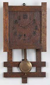 sold arts and crafts wall clock