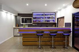 Lovely Design Of The Home Bar Designs With White Wall Ideas Added With  Brown Wooden Kitchen