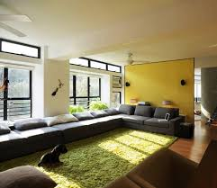 how to place area rug in front of sectional long sectional sofa design for luxurious interior
