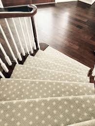 patterned stair carpet. AFTER - #stair Installed With Patterned, Low Pile Carpet Patterned Stair W