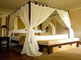 Curtains For Canopy Bed Frame Excellent Endearing Curtains For ...