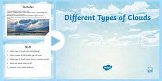Different Types Of Clouds Powerpoint Cfe Social Studies Resources
