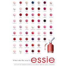 Essie Color Chart Essie Nail Colors Evergreen Team Usa