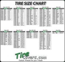 Mud Tire Size Chart