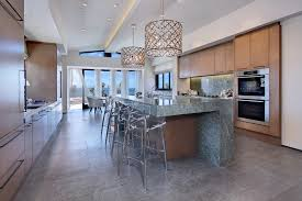 beach cottage chandelier kitchen beach style with contemporary elegance stainless steel appliances contemporary elegance