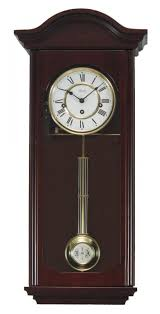 clockway german hermle deluxe keywound chiming wall clock cherry finish jhe2247