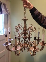 update brass chandelier
