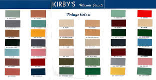 Green Paint Color Chart Kirbys Vintage Color Chart George Kirby Jr Paint Company