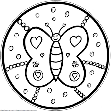 Small Picture Mandala Coloring Pages For Kids 3553