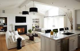 Design For Living Room With Open Kitchen Affordable Awesome