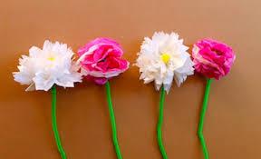 Paper Flower Craft Ideas How To Make Tissue Paper Flowers Flower Craft Kids