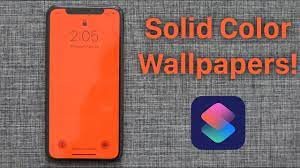 Create Solid Color Wallpapers With Siri ...