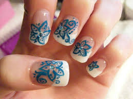 Cute Flower For Acrylic S With Nail Art Ideas Tumblr Winter Black ...