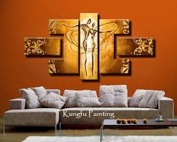 100 hand painted unframed abstract 5 panel canvas art living room wall decor painting modern