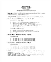Restaurant Manager Resume Template Unique Manager Resume Sample Templates 48 Free Word PDF Documents