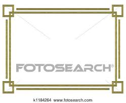 Gold Border Design Stock Illustration K1184264 Fotosearch