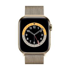 Apple Watch Series 6, 44mm, GPS + Cellular, Gold Stainless Steel with
