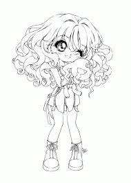 Cute Cartoon Girl Coloring Pages