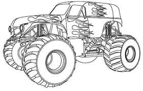 Small Picture Monster trucks coloring pages print download monster truck
