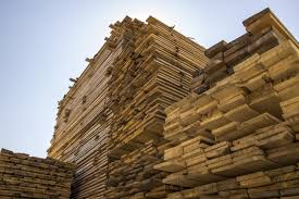 architecture board wood plank building wall construction industry stack lumber material stacked wood storage temple stacked
